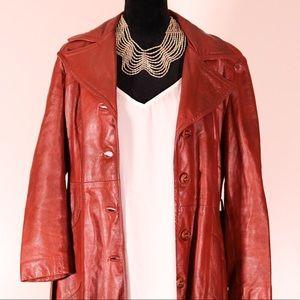 24K Dani Di Modes leather trench coat